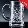 Inverness Crystal Traditional Panelled 1 Pint Tankard, Blue Boxed